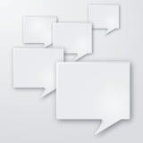 Φυσαλίδες γλώσσας και ομιλίας Στοκ Εικόνα