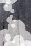 Φυσαλίδες που χρωματίζονται στους πίνακες φρακτών Στοκ εικόνα με δικαίωμα ελεύθερης χρήσης