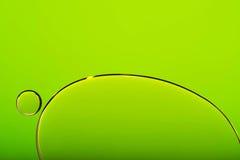 Φυσαλίδες στο πράσινο αφηρημένο υπόβαθρο Στοκ Εικόνα
