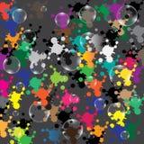 Φυσαλίδες στο χρωματισμένο υπόβαθρο Στοκ Εικόνα