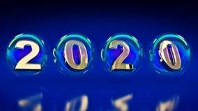 Φυσαλίδες 2020 Στοκ εικόνα με δικαίωμα ελεύθερης χρήσης
