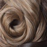 Φυσικά ανθρώπινα μαλλιά Στοκ Εικόνα
