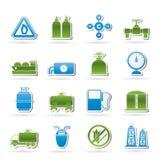 φυσικά αντικείμενα εικονιδίων αερίου Στοκ Εικόνες