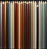 Φυσικά κραγιόνια μολυβιών χρώματος Στοκ φωτογραφία με δικαίωμα ελεύθερης χρήσης