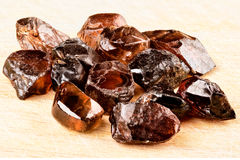 Φυσικά κρύσταλλα Zircon Στοκ εικόνες με δικαίωμα ελεύθερης χρήσης