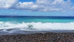 φυσικά κύματα σύστασης θάλασσας σχεδίου έργου τέχνης απόθεμα βίντεο