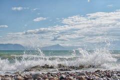 φυσικά κύματα σύστασης θάλασσας σχεδίου έργου τέχνης στοκ φωτογραφίες με δικαίωμα ελεύθερης χρήσης