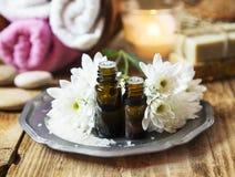Φυσικά πετρέλαια Aromatherapy Στοκ φωτογραφία με δικαίωμα ελεύθερης χρήσης