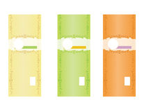 Φυσικά πρότυπα 2 ετικετών σαπουνιών στοκ εικόνα