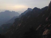 Φυσικά σημεία στο υποστήριγμα Huangshan, επαρχία Anhui, Κίνα Στοκ Εικόνες