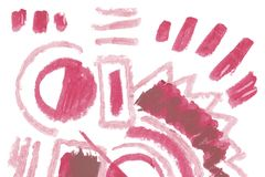 Φυσικά στοιχεία σχεδίου τέχνης αλοιφών του κραγιόν Στοκ Εικόνες