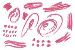 Φυσικά στοιχεία σχεδίου τέχνης αλοιφών του κραγιόν Στοκ εικόνα με δικαίωμα ελεύθερης χρήσης