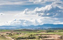 Φυσικά τοπία της περιοχής Rioja της Ισπανίας στοκ φωτογραφίες