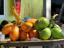 Φυσικά χρώματα, για τα φυσικά φρούτα Στοκ φωτογραφία με δικαίωμα ελεύθερης χρήσης