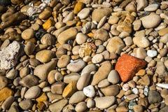 Φυσικά χρώματα της παραλίας Firiplaka, Μήλος, Ελλάδα Στοκ φωτογραφία με δικαίωμα ελεύθερης χρήσης