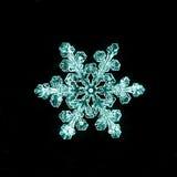 Φυσικά snowflake μακρο naturals Στοκ εικόνα με δικαίωμα ελεύθερης χρήσης