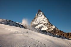 Φυσικές απόψεις Matterhorn, Ελβετία Στοκ Φωτογραφίες