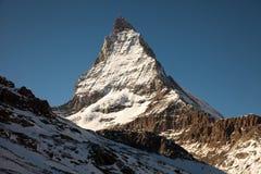 Φυσικές απόψεις Matterhorn, Ελβετία Στοκ Εικόνες