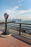 Φυσικές διόπτρες και άποψη της πόλης της Νέας Υόρκης Στοκ φωτογραφία με δικαίωμα ελεύθερης χρήσης