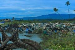 Φυσικές καταστροφές σεισμού και ρευστοποίησης στοκ φωτογραφία με δικαίωμα ελεύθερης χρήσης