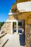 Φυσικές καταστροφές του παλατιού Minoan της Κνωσού Το παλάτι της Κνωσού είναι η μεγαλύτερη ηλικία χαλκού αρχαιολογική Στοκ φωτογραφία με δικαίωμα ελεύθερης χρήσης