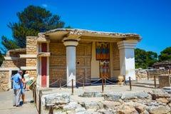 Φυσικές καταστροφές του παλατιού Minoan της Κνωσού Στοκ Εικόνες
