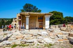 Φυσικές καταστροφές του παλατιού Minoan της Κνωσού Στοκ φωτογραφία με δικαίωμα ελεύθερης χρήσης