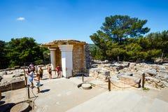Φυσικές καταστροφές του παλατιού Minoan της Κνωσού Στοκ εικόνες με δικαίωμα ελεύθερης χρήσης