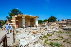Φυσικές καταστροφές του παλατιού Minoan της Κνωσού Στοκ Φωτογραφία