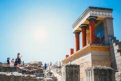 Φυσικές καταστροφές του παλατιού Minoan της Κνωσού Στοκ Φωτογραφίες