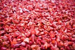 Φυσικές μικρές κόκκινες πέτρες Στοκ Εικόνα