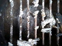 Φυσικές τέφρες πυρκαγιάς με το μέταλλο στοκ φωτογραφίες με δικαίωμα ελεύθερης χρήσης