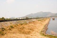 Φυσικές φράγμα και λίμνη ρύπου Chonburi Bangpra Στοκ φωτογραφίες με δικαίωμα ελεύθερης χρήσης