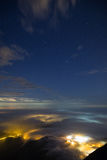 Φυσική άποψη από την αιχμή Lantau στο Χονγκ Κονγκ στο σκοτάδι Στοκ φωτογραφίες με δικαίωμα ελεύθερης χρήσης