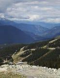 Φυσική άποψη από το βουνό Blackcomb στο συριστήρα, Π.Χ. Στοκ Εικόνα