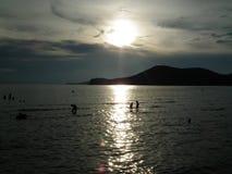 Φυσική άποψη ηλιοβασιλέματος τρόπου ζωής όμορφη της Ταϊλάνδης Στοκ Εικόνες