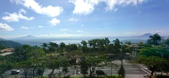 Φυσική άποψη πόλεων Tagaytay στοκ εικόνες