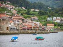 Φυσική άποψη σε Combarro, ισπανικό χωριό ψαράδων κοντά Pontevedra, Γαλικία, βόρεια Ισπανία Στοκ Εικόνες