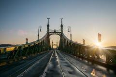 Φυσική άποψη της γέφυρας ελευθερίας στη Βουδαπέστη Στοκ Εικόνα