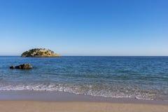 Φυσική άποψη της παραλίας Portinho DA Arrabida στο Setubal Στοκ Εικόνες
