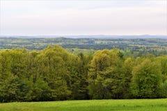Φυσική άποψη του εθνικού Wildlfe καταφυγίου Oxbow παίρνω από το Χάρβαρντ, Μασαχουσέτη, Ηνωμένες Πολιτείες Στοκ Φωτογραφίες