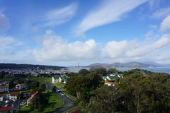 Φυσική άποψη του Σαν Φρανσίσκο στοκ φωτογραφίες με δικαίωμα ελεύθερης χρήσης