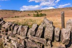 Φυσική άποψη του τοίχου πετρών στο Γιορκσάιρ στοκ φωτογραφία με δικαίωμα ελεύθερης χρήσης