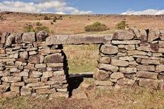 Φυσική άποψη του τοίχου πετρών στο Γιορκσάιρ στοκ φωτογραφίες με δικαίωμα ελεύθερης χρήσης