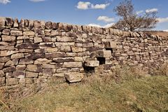 Φυσική άποψη του τοίχου πετρών στο Γιορκσάιρ στοκ εικόνες