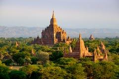 Φυσική άποψη του antient ναού Sulamani στην ανατολή, Bagan, Myanma Στοκ φωτογραφία με δικαίωμα ελεύθερης χρήσης