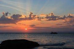 Φυσική άποψη του muine ηλιοβασιλέματος Στοκ Φωτογραφίες