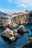 Φυσική άποψη των απότομων βράχων σε Dubrovnik Στοκ φωτογραφία με δικαίωμα ελεύθερης χρήσης