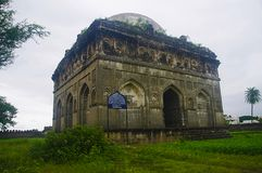 Φυσική άποψη Bagh Rauza, Ahmednagar, Maharashtra στοκ φωτογραφία