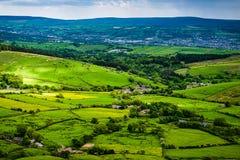 Φυσική αγγλική επαρχία άποψης στοκ φωτογραφίες με δικαίωμα ελεύθερης χρήσης